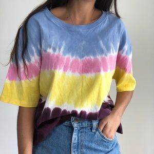 Zara tie dye short sleeve shirt